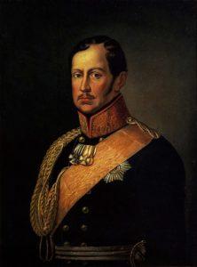 Friedrich Wilhelm III. König von Preußen, Ölgemälde eines unbekannten Malers, um 1840